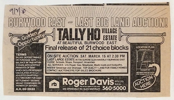 1980 – Cultivating a Reputation for Selling Land Subdivisions